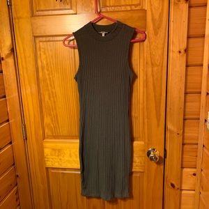olive green sleeveless sweater dress